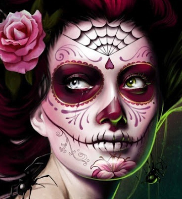 Inspiration Day Of The Dead Makeup 3d Illustration Animation - How-to-do-day-of-the-dead-makeup