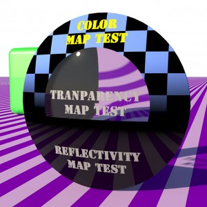 A transparency texture map has been added to the disk material.
